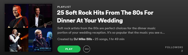 80s Soft Rock Spotify DJ Mike Bills