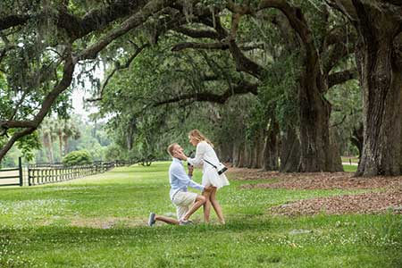 Boone Hall Plantation Marriage Proposal Charleston