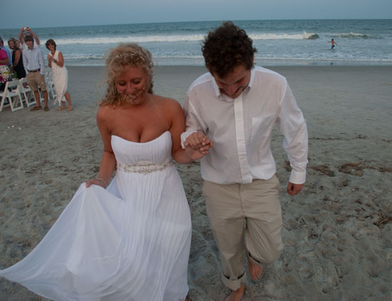 Kate Emmad Recessional On Beach
