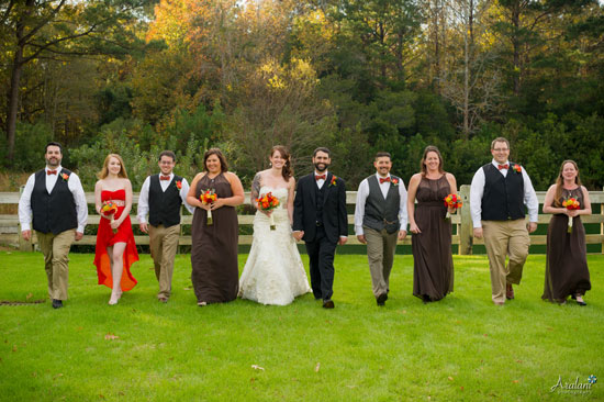 Megan John Pepper Plantation Bridal Party