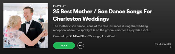 Mother Son Dance Songs Spotify Screenshot