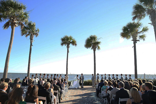 Ocean Terrace Wedding Ceremony Seabrook