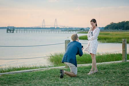 Pitt St Bridge Marriage Proposal Charleston Wedding