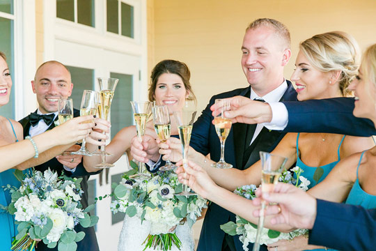 Seabrook Island Bride Groom Toasting