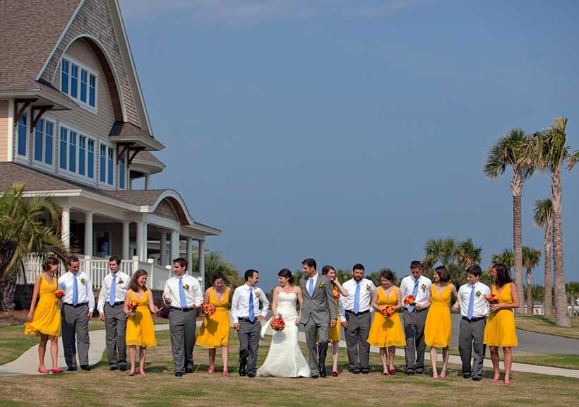 The Seabrook Island Club is just a few steps away from the oceanfront and is perfect for couples who seek a luxurious beach wedding in Charleston
