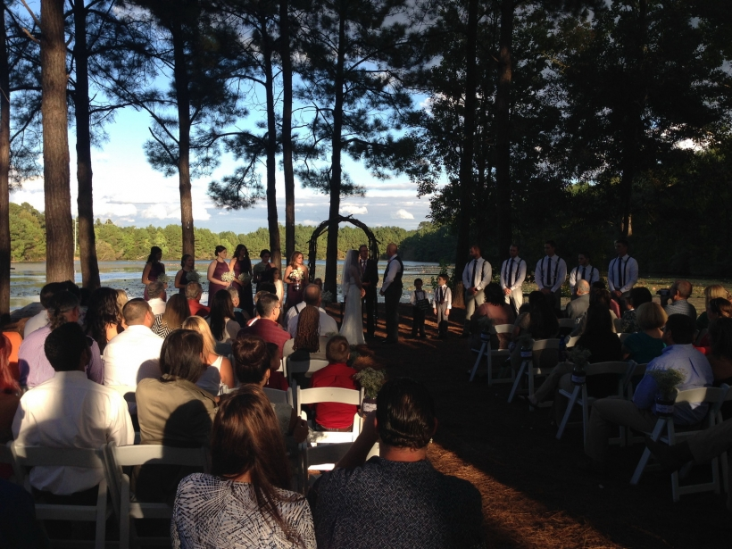 Jessica & Gus - Wedding Ceremony - The Lake House At Bulow - 10-16-14