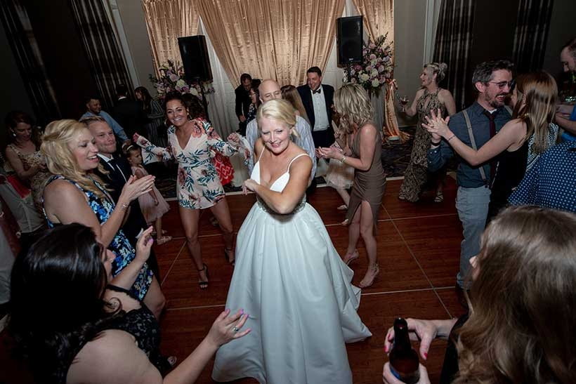 Becky & Josh and their guests had a great time on the dance floor at their Hyatt House wedding in downtown Charleston