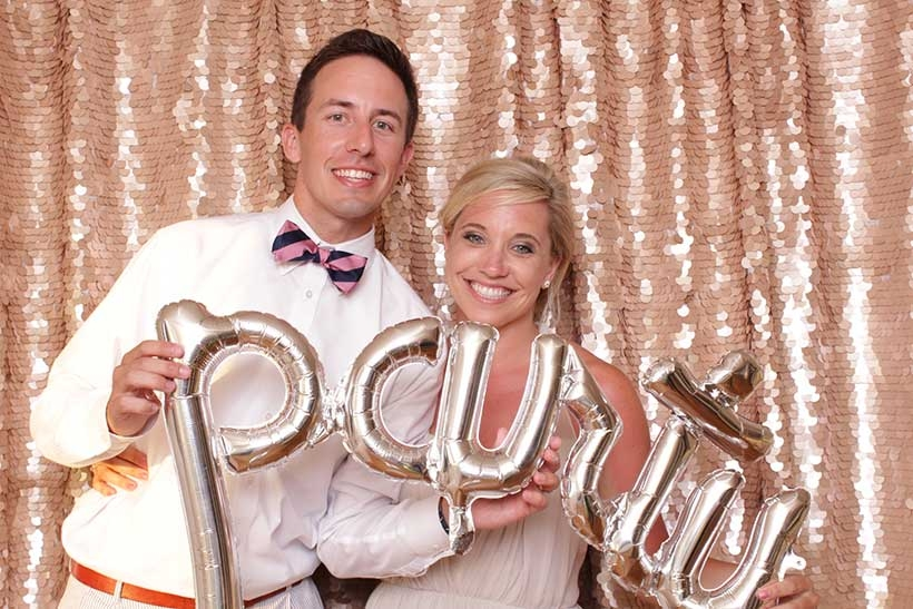 Hiring Lowcountry Photo Booth means you get a fun, classy, and luxury photo booth for your Charleston wedding that is sleek and modern and won't take over your reception