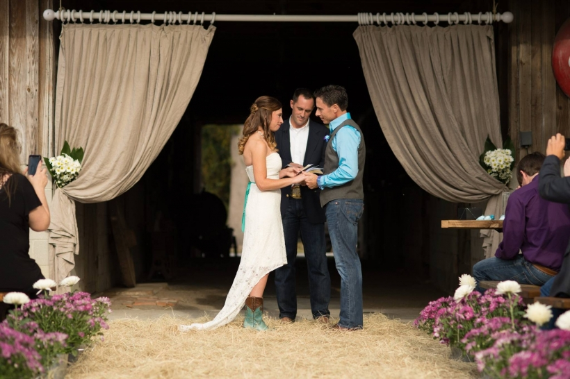 Jessica & Kyle - Wedding Ceremony - The Stables At Boals Farm