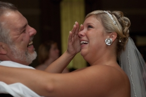 The father daughter dance is another of those moments during the reception where the spotlight is on the brides and creates a really special moment with her father