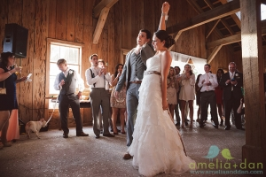 Reese & Courtney wrap up their first dance at the Cotton Dock At Boone Hall.