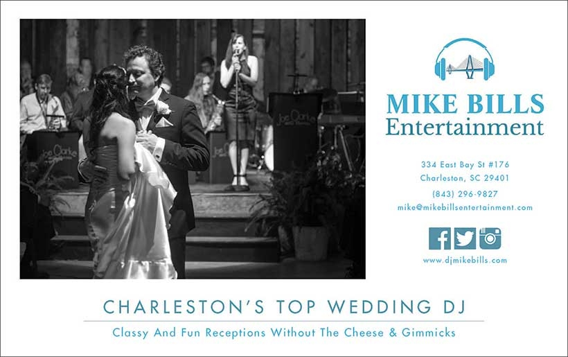 This is a copy of my advertisement for the Fall - Winter 2017-2018 Issue of Charleston Weddings Magazine