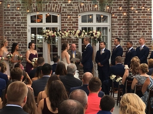 Kara & Ian were a destination bride and groom from the Washington DC area who chose the Historic Rice Mill for their Charleston wedding