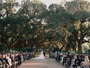 There are so many beautiful backdrops to consider when having your wedding ceremony at Boone Hall Plantation