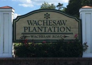 Wachesaw Plantation is a private plantation and golf course located in Murrells Inlet, SC and where Luciana & Ty will be married in November 2018.