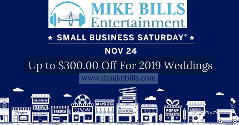 Book one of the best Charleston wedding DJs on Black Friday and Small Business Saturday and take advantage of some great deals