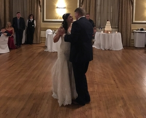 Katie & Paul perform their first dance by dancing  to Unchained Melody by the Righteous Brothers