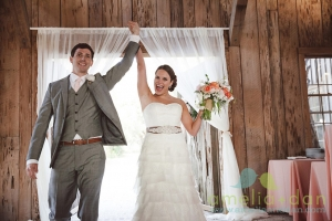 Reese & Courtney get ready for their grand entrance at the Cotton Dock at Boone Hall Plantation