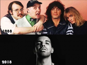 What do Cheap Trick and Drake have in common? They both have Number 1 songs on the Billboard Hot 100, but 30 years apart. Enjoy this comparison of the Top 10 of  July1988 and 2018.